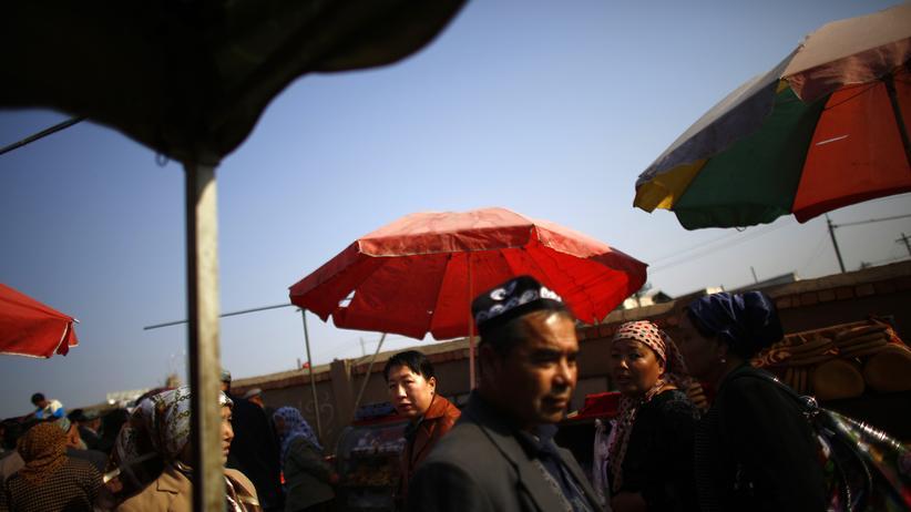 Uiguren-Region: Ein Markt in der Provinz Xinjiang