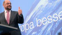 Martin Schulz, Spitzenkandidat der europäischen Sozialdemokraten, bei einer SPD Veranstaltung Dortmund (Archiv)