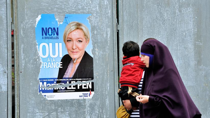 Frankreich Europawahl Marine Le Pen Front National