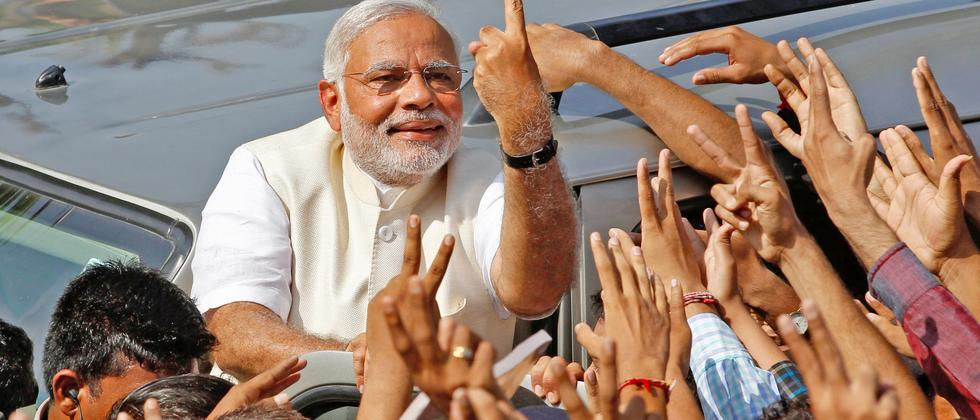 Modi Wahl Indien