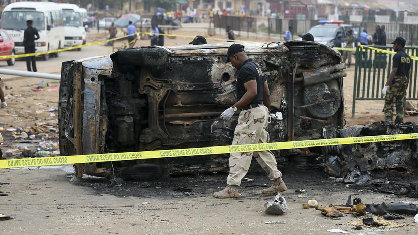 Jos: Eine Autobombe explodierte Anfang Mai in der nigerianischen Hauptstadt Abuja.