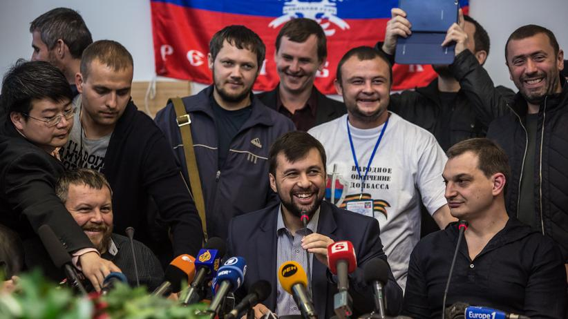 Ukraine-Krise: Pressekonferenz der Separatisten in Donezk
