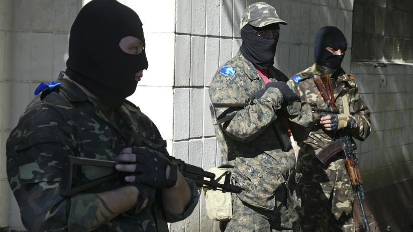 Prorussische Separatisten in der ostukrainischen Stadt Donezk