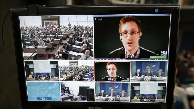 NSA-Affäre: Edward Snowden sagte im April per Videokonferenz vor dem Europarat aus. Der Ex-NSA-Mitarbeiter zeigte sich zuletzt bei zahlreichen öffentlichen Auftritten.