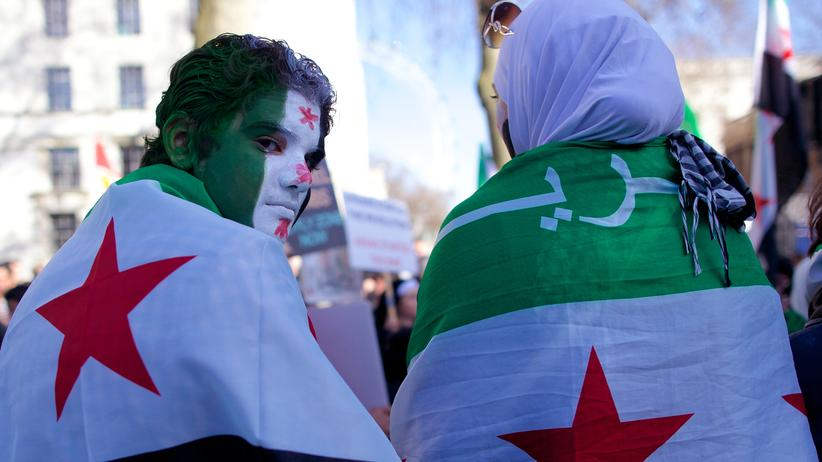 Razan Zeitouneh: Unterstützer der syrischen Opposition protestieren in London.