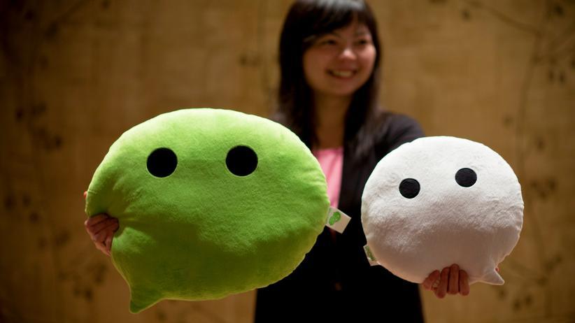 Überwachung: Promotion-Aktion für das chinesische WhatsApp-Pendant WeChat