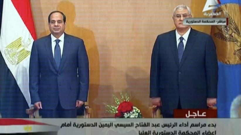 Ägypten: Abdel Fattah al-Sissi (l.) bei seiner Vereidigung als Präsident