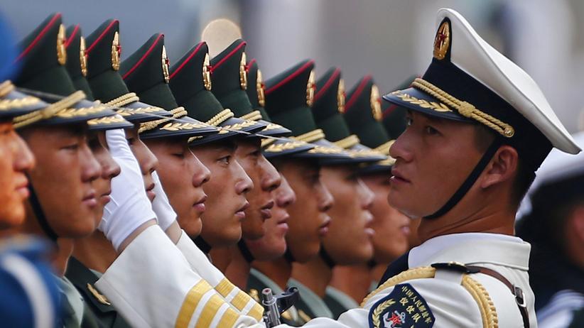 Chinesische Soldatengarde