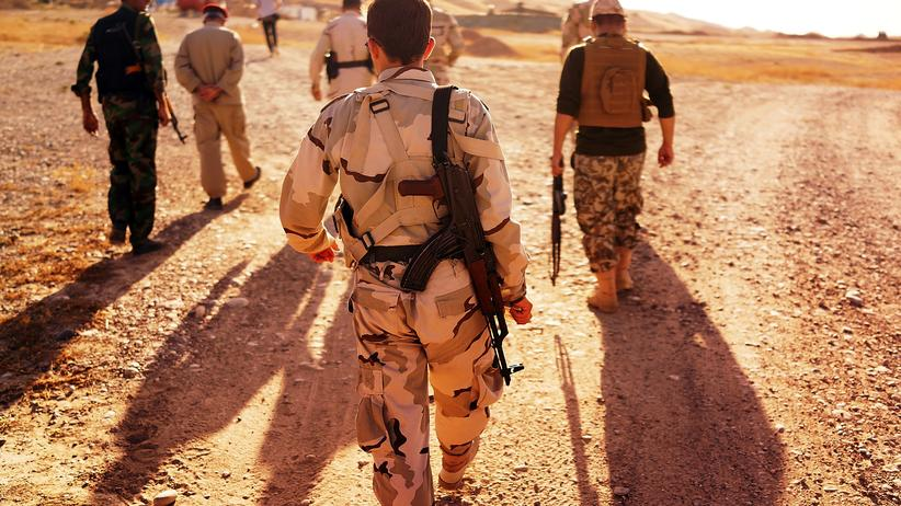 Kalifat im Irak: Kurdische Soldaten in Kirkuk, Irak