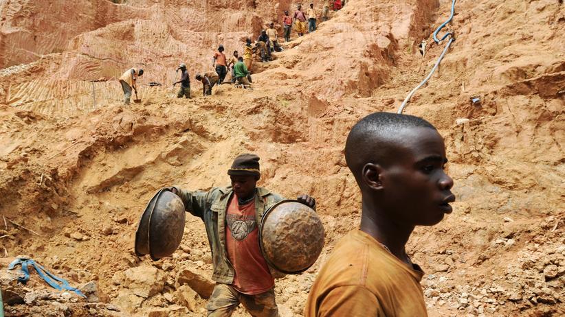 Rohstoffe: Goldmine in Chudja im Nordosten des Kongo