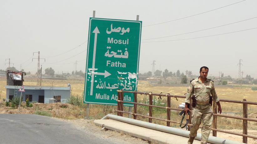 Türkei: Ein Straßenschild im Norden Iraks