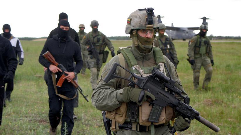 Training von Nato-Spezialkräften in Litauen
