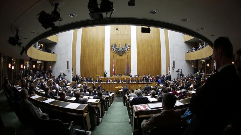 Plenarsaal des österreichischen Parlaments