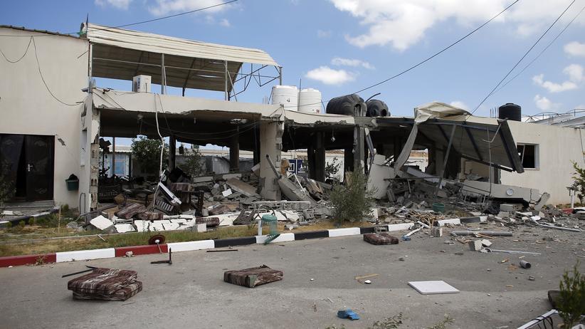 Ein zerstörter Checkpoint in Beit Hanun