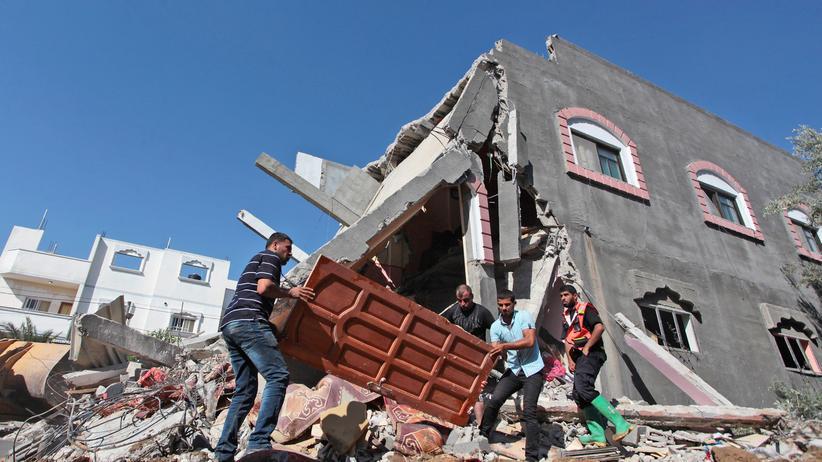 Zerstörtes Haus nach einem israelischen Luftangriff in Gaza am 9. Juli
