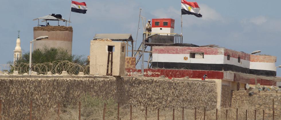 Ägyptische Sperranlagen an der Grenze zwischen Ägypten und Gaza