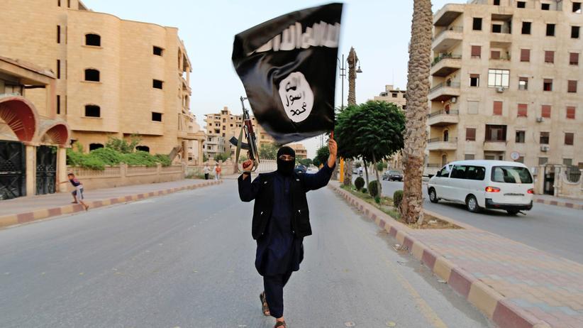 Ein Isis-Mitglied in ost-syrischen Raqqa