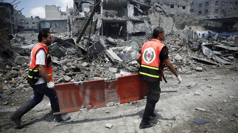Nahost-Konflikt: Rettungskräfte in Gaza-Stadt