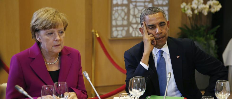 Angela Merkel und Barack Obama beim G-7-Treffen im Juni 2014