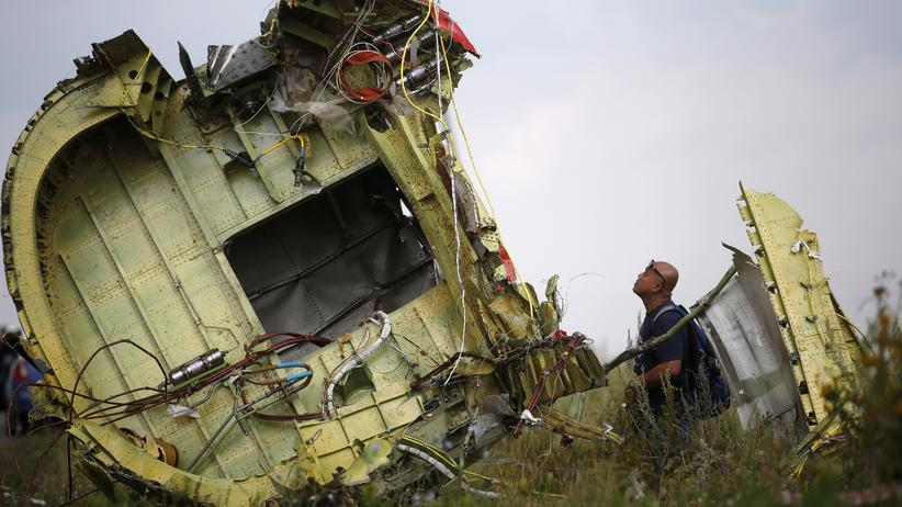 MH17-Abschuss: A Malaysian air crash investigator inspects the crash site of Malaysia Airlines Flight MH17, near the village of Hrabove (Grabovo), Donetsk region July 22, 2014. Almost 300 people were killed when the Malaysian airliner went down last Thursday. REUTERS/Maxim Zmeyev (UKRAINE - Tags: POLITICS TRANSPORT DISASTER CIVIL UNREST)