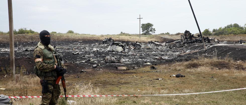 Absturzstelle von Flug MH17
