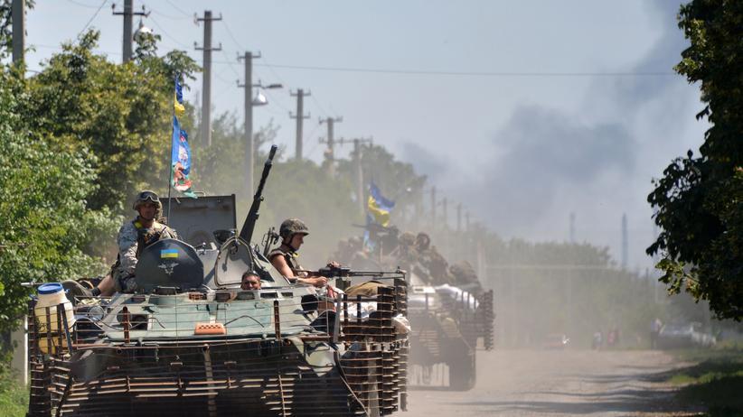 Ukraine: Ukrainische Soldaten während ihrer Offensive in der Provinz Donezk