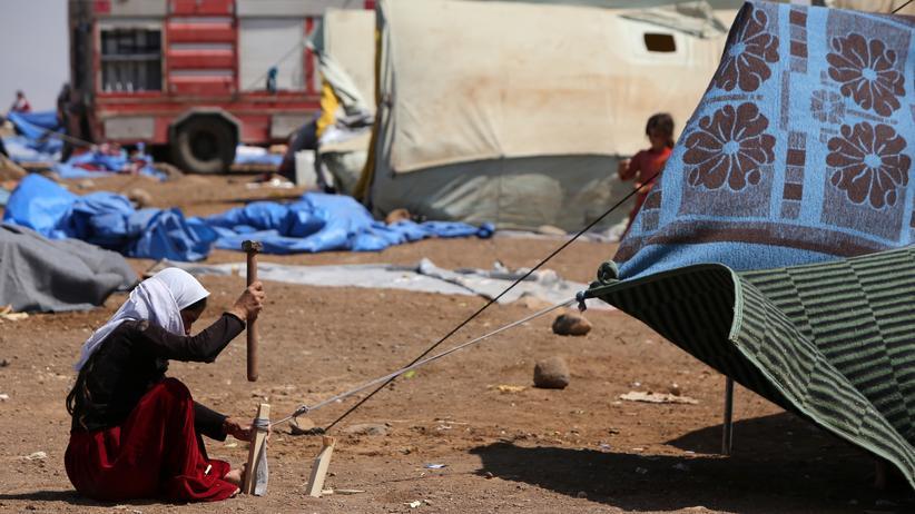 Libyen: Irakische Flüchtlinge in einem Camp in der nordsyrischen Provinz Hasaka