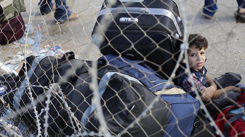 Gaza-Konflikt: Palästinensischer Junge in Gaza an der Grenze zu Ägypten