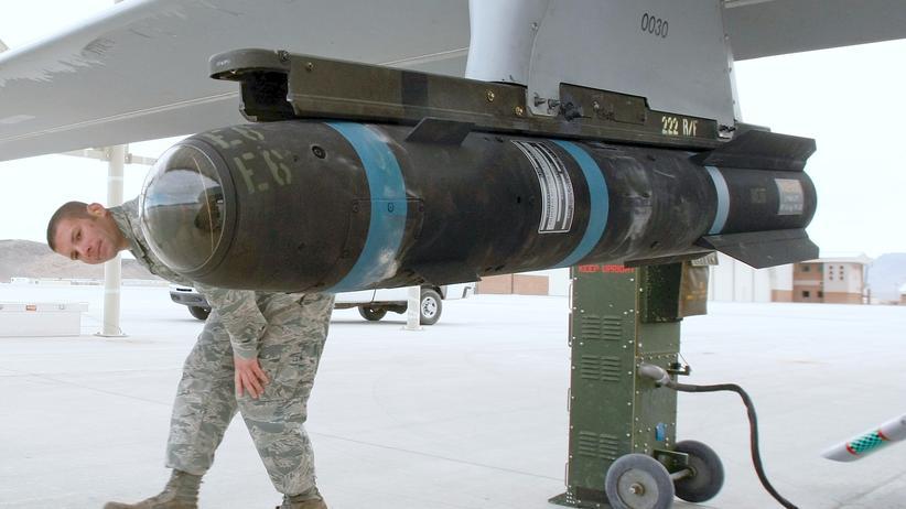 Gaza: Eine Hellfire-Rakete in Nevada: Waffen dieser Art liefern die USA vorerst nicht mehr an Israel.
