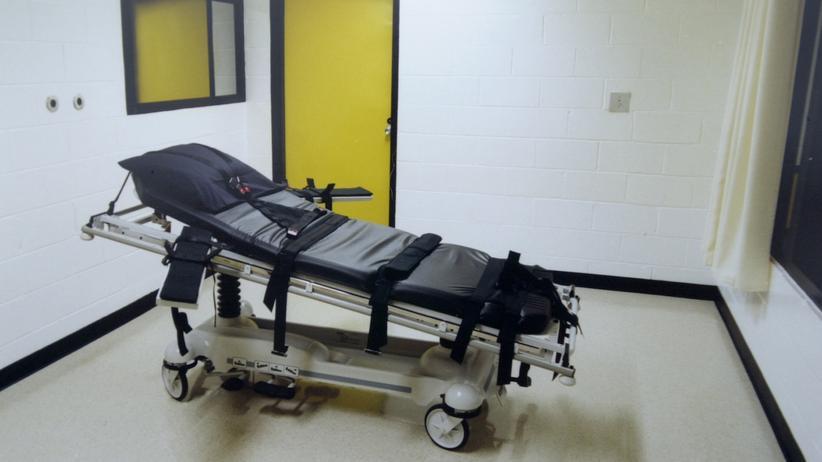 Hinrichtungsraum in einem Gefängnis in Jackson, Georgia