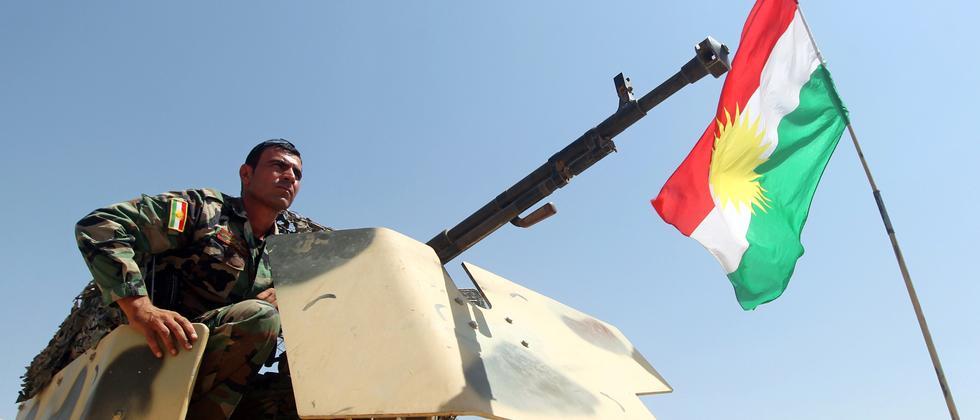 Ein kurdischer Kämpfer