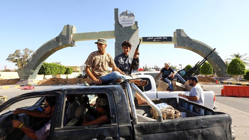 """Misrata-Miliz: Kämpfer der """"Fajr Libya""""-Brigaden aus Misrata in Tripolis"""