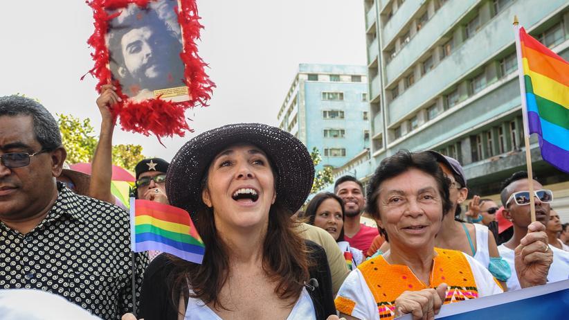 Kuba: Mariela Castro bei einer Demonstration gegen Homophobie im Mai in Havanna