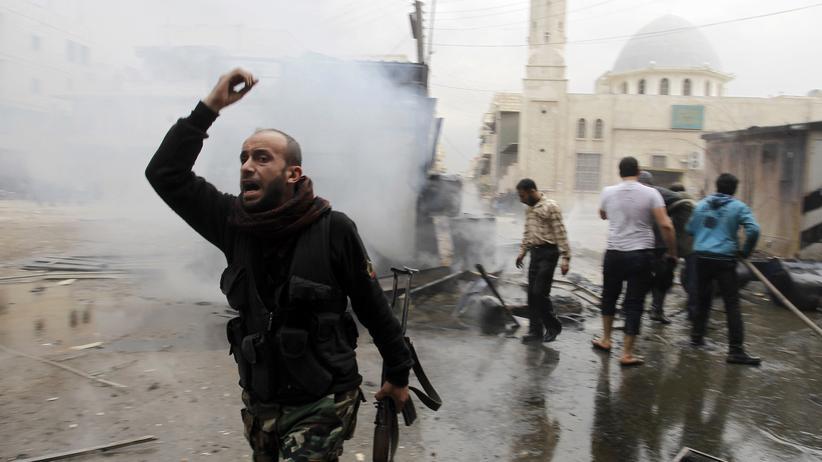 Syrien: Kämpfer der Free Syrian Army, die Molhem Barakat 2013 in Aleppo fotografierte.