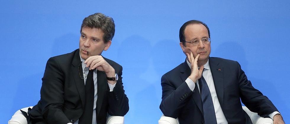 Frankreichs Präsident François Hollande und sein inzwischen gefeuerter Wirtschaftsminister Arnaud Montebourg