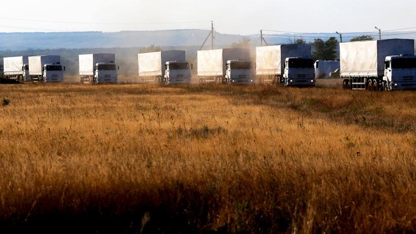 Ukraine-Krieg: Russische Lastwagen erreichen Luhansk