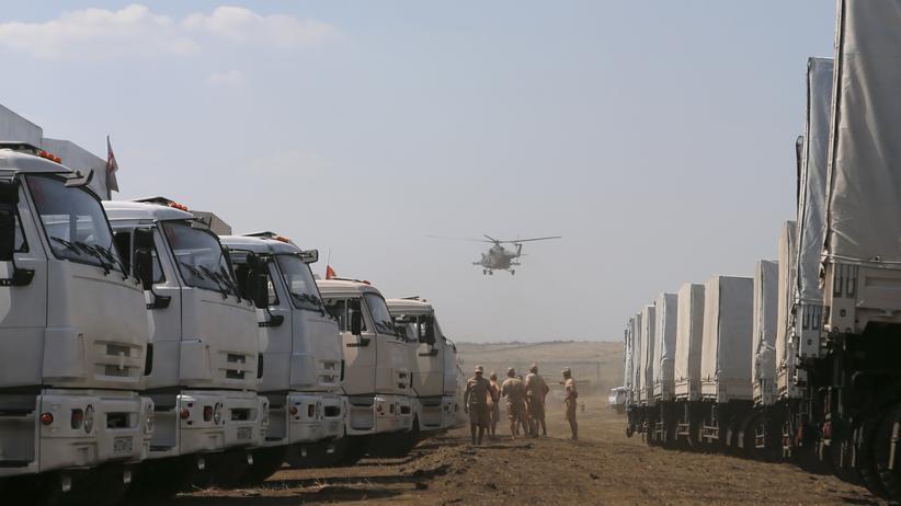 Ukraine Russland Donezk Luhansk Wladimir Putin Hilfskonvoi Konvoi