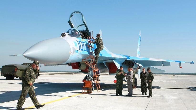 Ukraine-Krise: Ein ukrainisches Kampfflugzeug
