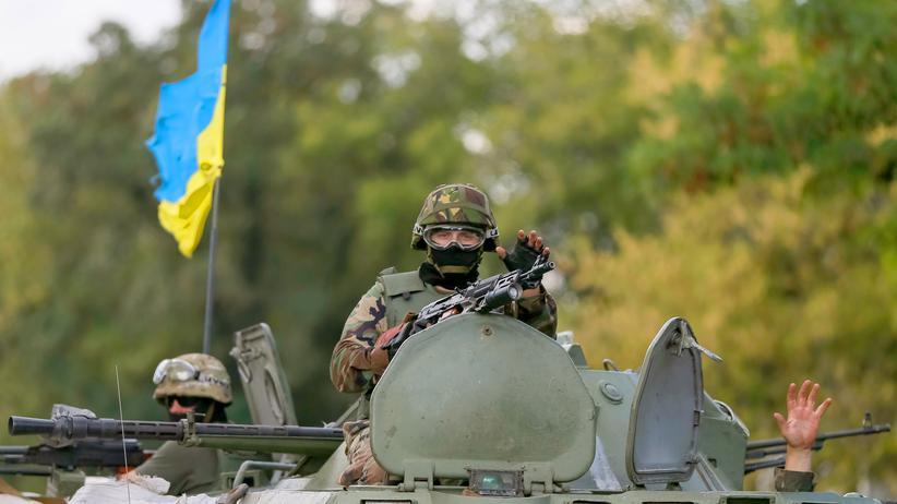 Ukraine-Krise: Ukrainisches Militär nahe Donezk