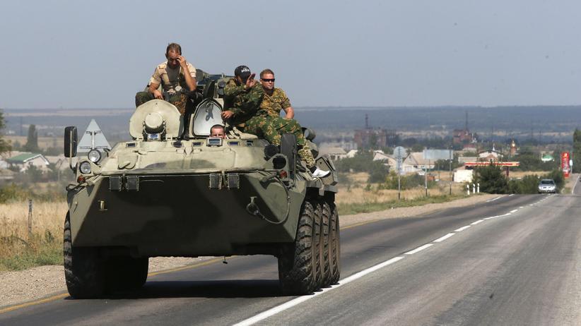 Russische Soldaten an der Grenze zur Ukraine