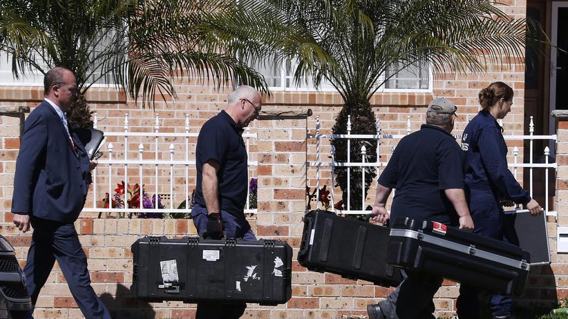 """Überwachung: Razzia gegen mutmaßliche Unterstützer des """"Islamischen Staates"""" in Sydney am 18.9.2014"""