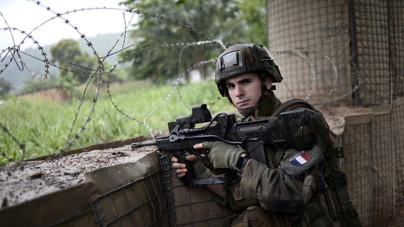 Französische Armee: Ein französischer Soldat in der Hauptstadt der Zentralafrikanischen Republik