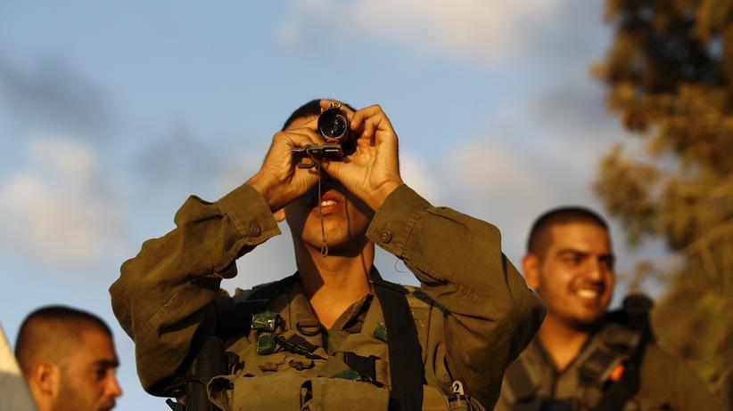 Benjamin Netanjahu: Israelische Soldaten in der Nähe des Gazastreifen