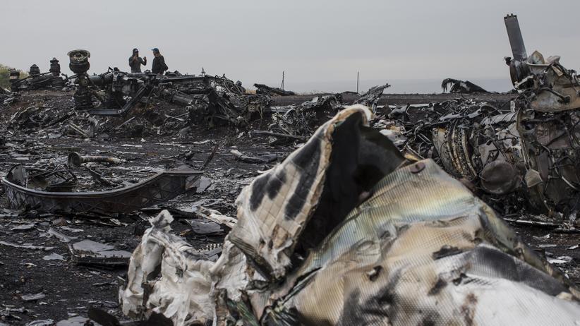 Flug MH17: Flugzeugteile an der Absturzstelle von Flug MH17 (Archivbild)