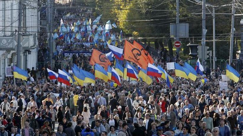 Moskau: Demonstration für Frieden