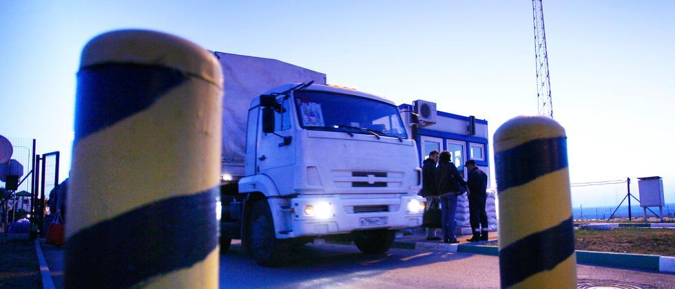 Russland Hilfskonvoi Ukraine Konflikt