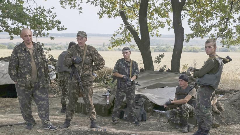 Ukraine: Ukrainische Soldaten in der Ostukraine