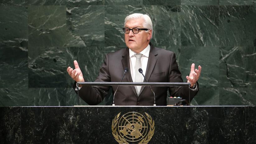 Bundesaußenminister Frank Walter Steinmeier spricht auf der UN-Vollversammlung in New York.