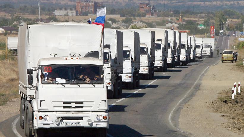 Ukraine-Krise: Dritter Hilfskonvoi für die Ostukraine aus Russland