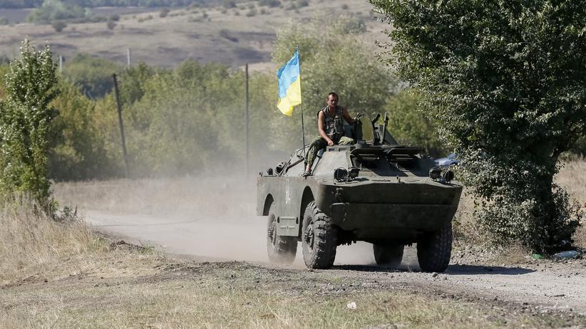 Ukraine-Krise: Ukrainisches Militär in der Nähe von Donezk